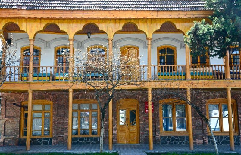 Casas tradicionales de Qakh en el Cáucaso Azerbaijan imagen de archivo