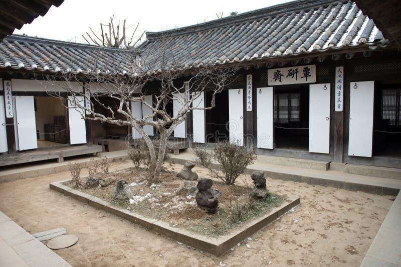 Casas tradicionales en Corea fotografía de archivo