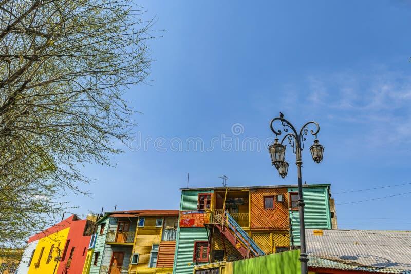 Casas tradicionales, La Boca, la Argentina foto de archivo libre de regalías