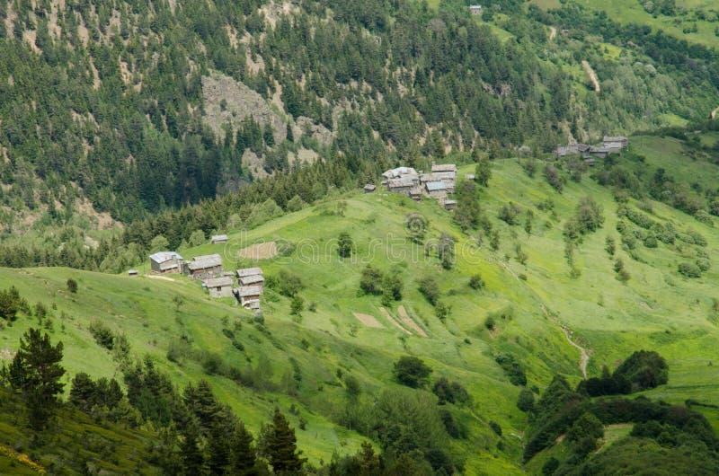 Casas tradicionales viejas de la montaña fotos de archivo libres de regalías