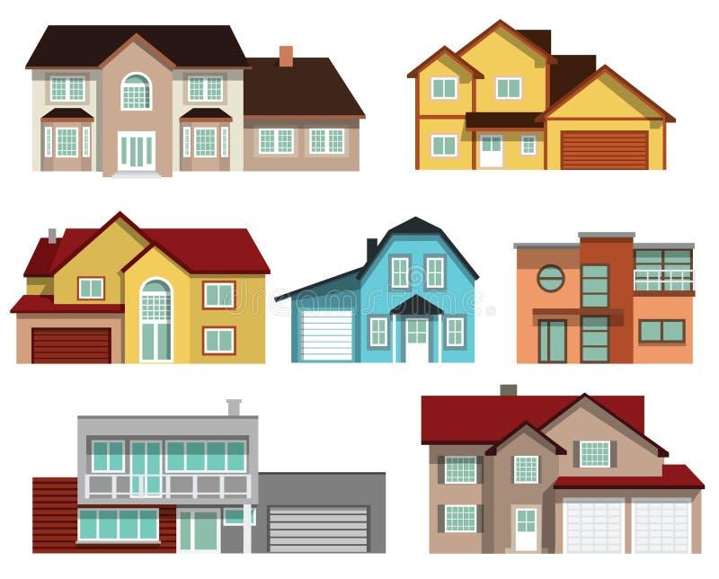 Casas urbanas stock de ilustración