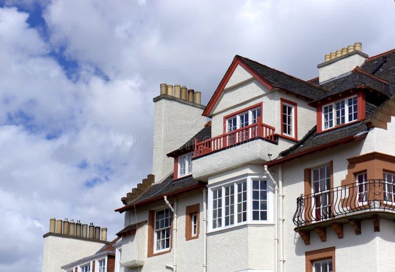 Casas urbanas británicas fotos de archivo libres de regalías