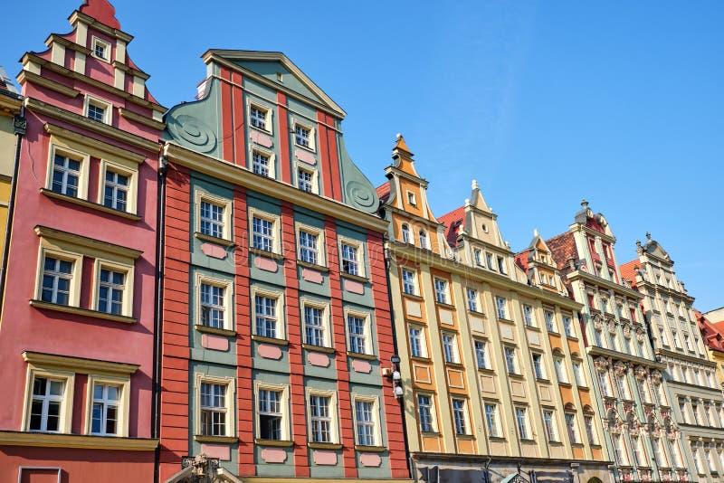 Casas velhas coloridos imagem de stock