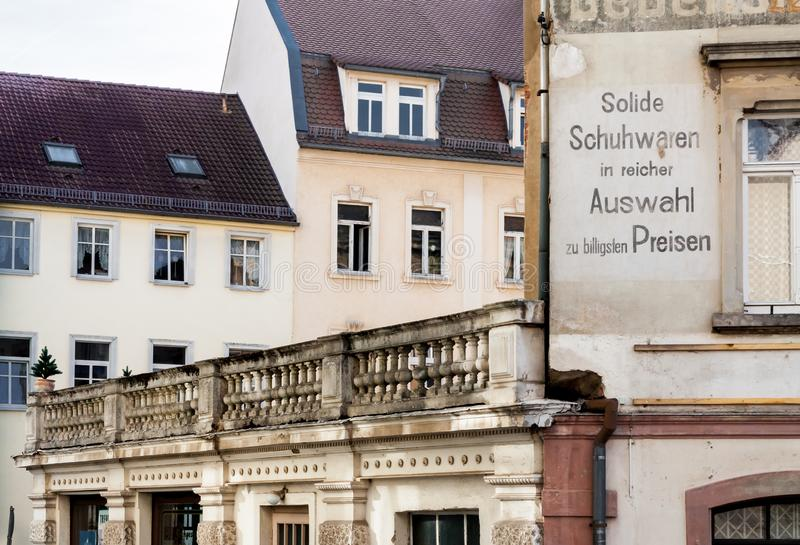 Casas velhas de Zittau foto de stock royalty free