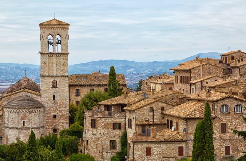 Casas velhas em Assisi imagens de stock