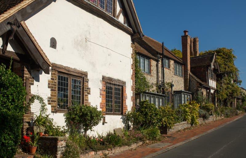Casas velhas em Rottingdean, Sussex, Inglaterra foto de stock royalty free
