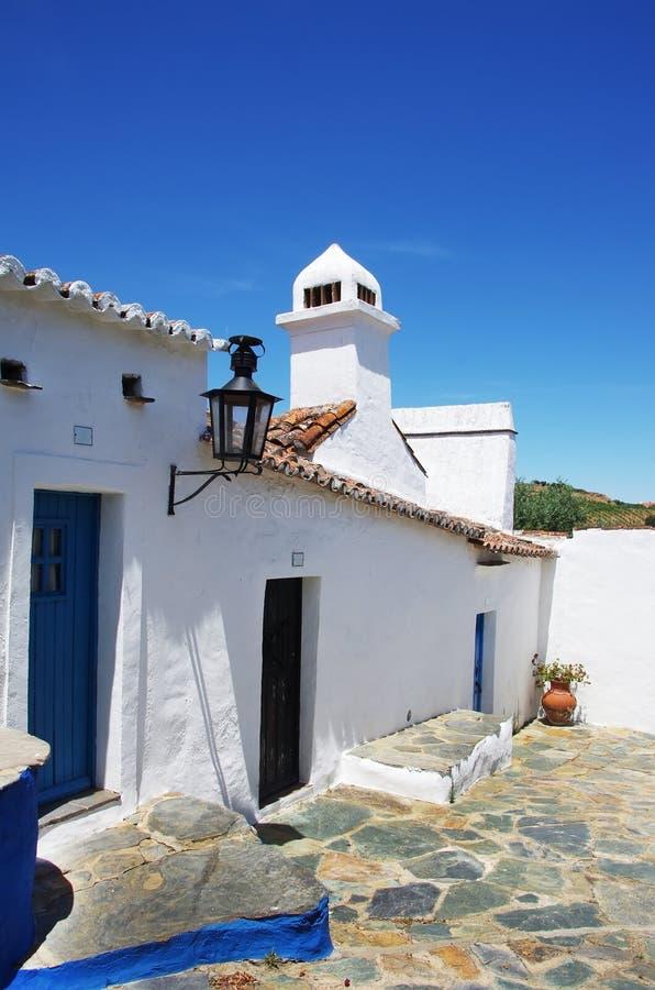 Casas velhas em S Cristovao, Borba fotos de stock royalty free