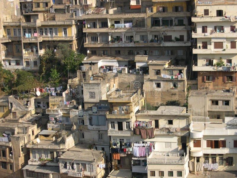 Casas velhas em Tripoli, Líbano imagens de stock