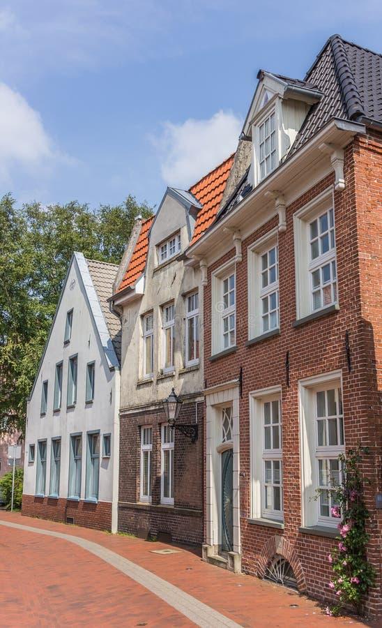Casas velhas no centro do olhar de soslaio, Alemanha foto de stock royalty free