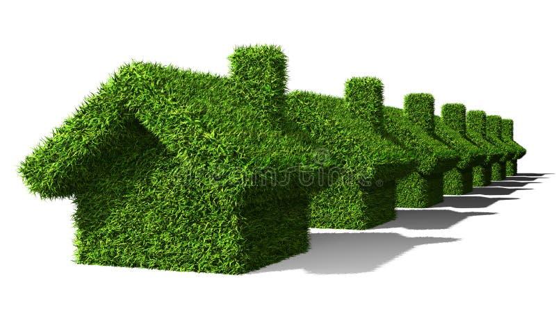 Casas verdes ilustração do vetor