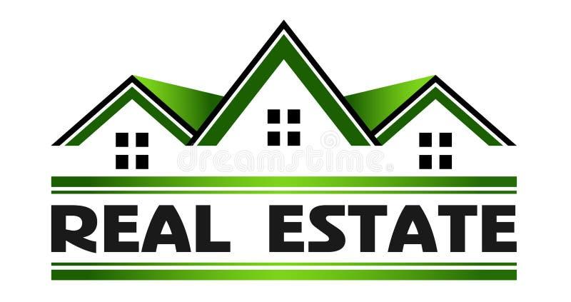 Casas verdes de bens imobiliários ilustração stock