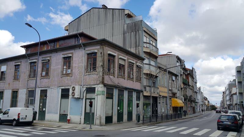 Casas viejas de Oporto foto de archivo
