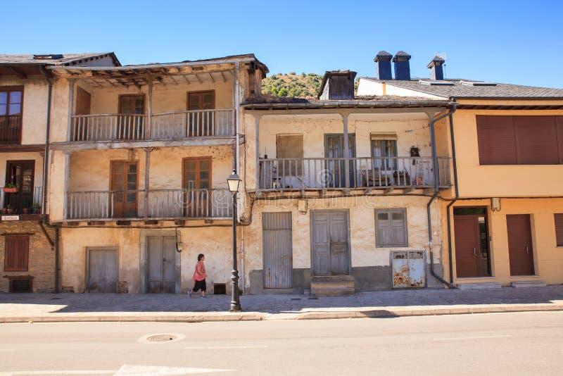 Casas viejas de Villafranca del Bierzo fotos de archivo libres de regalías