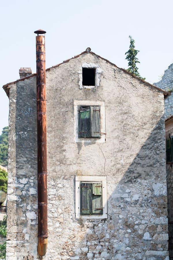 Casas viejas en Croacia fotos de archivo libres de regalías