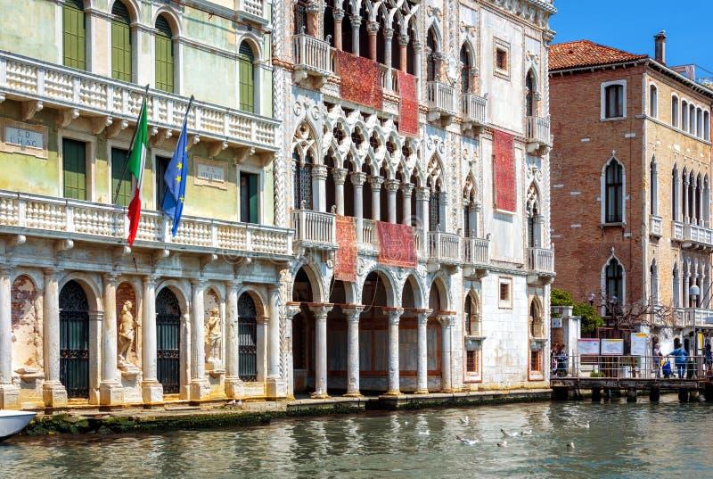 Casas viejas en Grand Canal, Venecia, Italia imágenes de archivo libres de regalías
