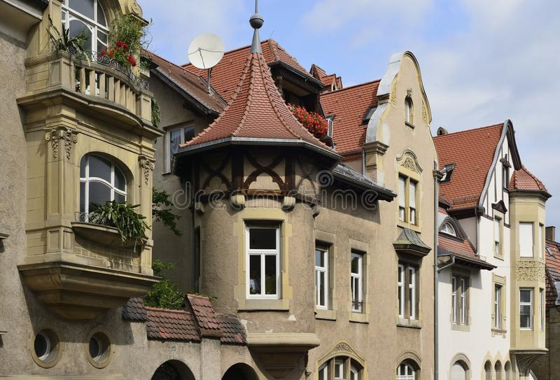 Casas viejas, Stuttgart fotos de archivo libres de regalías