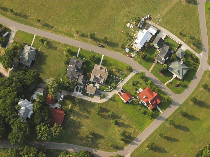 Casas, visión aérea fotografía de archivo libre de regalías
