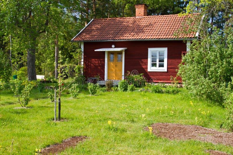 Casas y ambiente en Suecia. imágenes de archivo libres de regalías