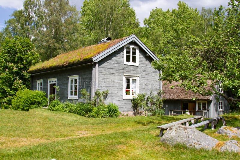 Casas y ambiente en Suecia. imagen de archivo libre de regalías