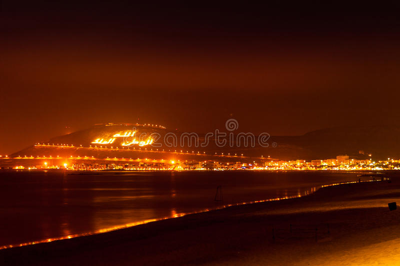 The Casbah at Night, Agadir, Morocco royalty free stock photography