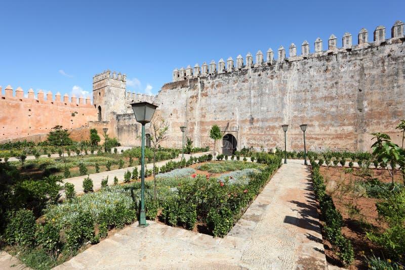 Casbah ogród w Rabat, Maroko zdjęcie royalty free