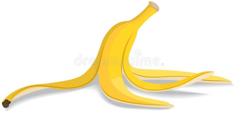Casca da banana ilustração stock
