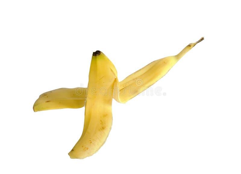 Casca da banana do cliché fotos de stock royalty free