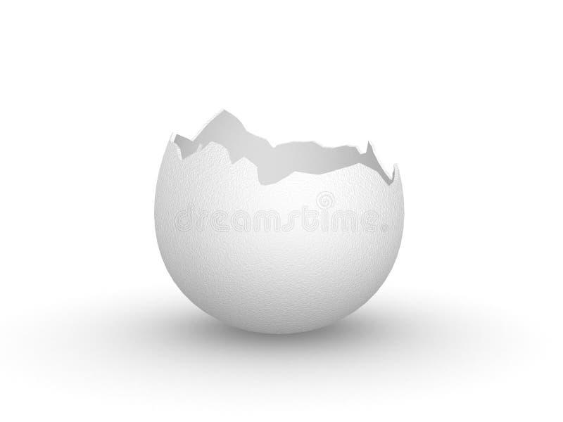 Casca de ovo vazia quebrada ilustração stock