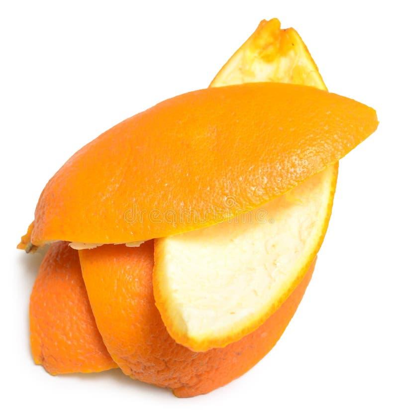 Casca de uma laranja imagens de stock royalty free