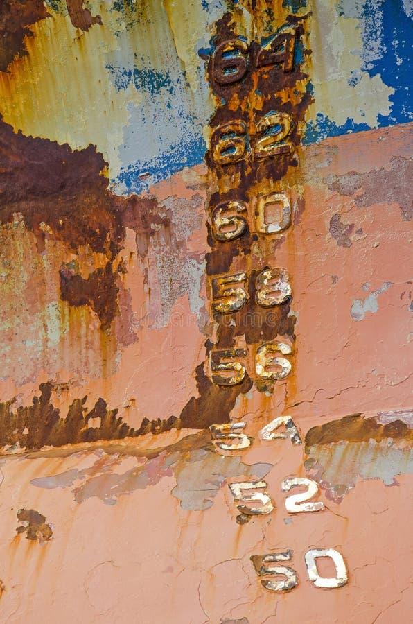 A casca do navio colorido com marcas de esboço imagens de stock