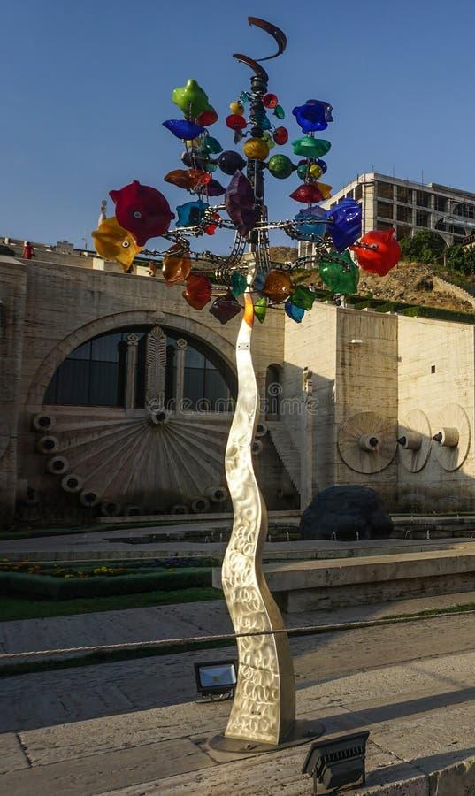 Cascada Art Tree complejo de Ereván fotografía de archivo