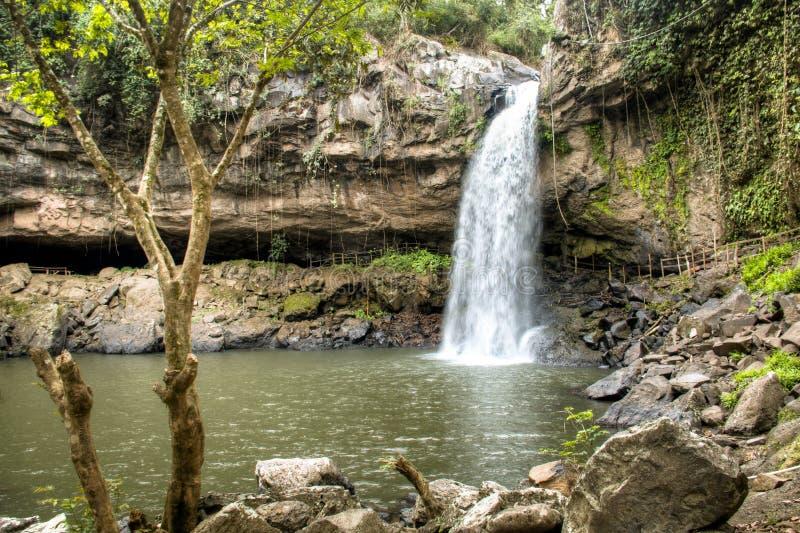 Cascada Blanca-vattenfall nära Matagalpa, Nicaragua fotografering för bildbyråer