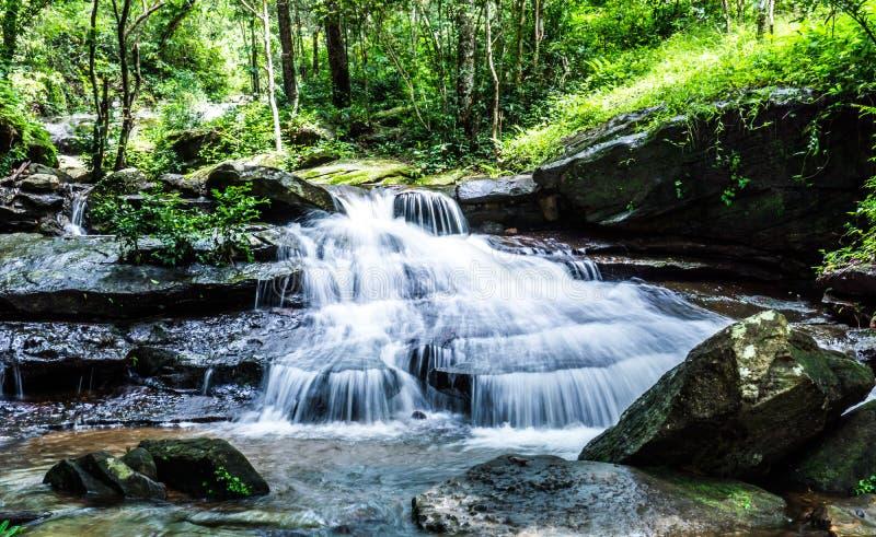 Cascada, cascada del som de Khum, distrito de Muang, Sakon Nakhon, Tailandia foto de archivo