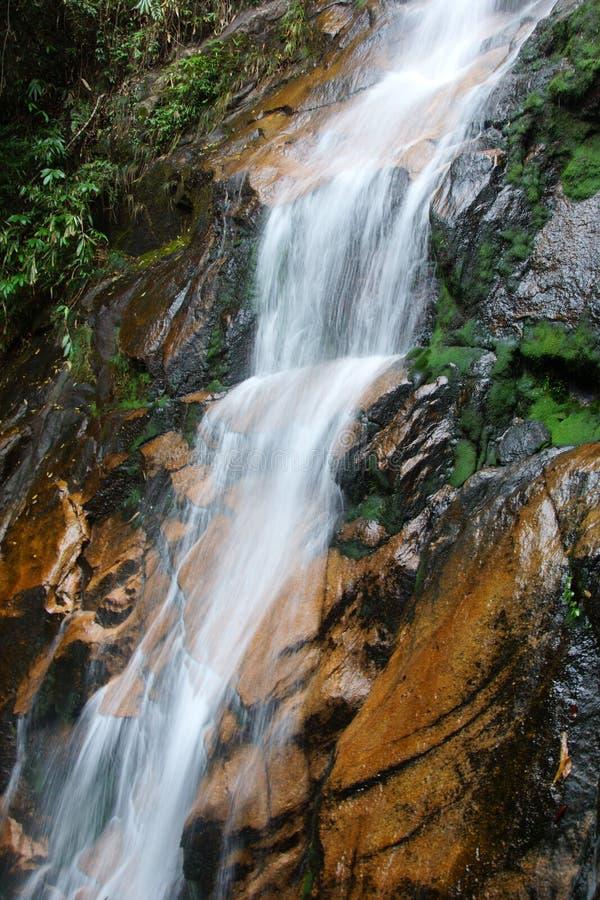 Cascada cerca de la montaña de Wuyishan, provincia de Fujian, China fotos de archivo libres de regalías