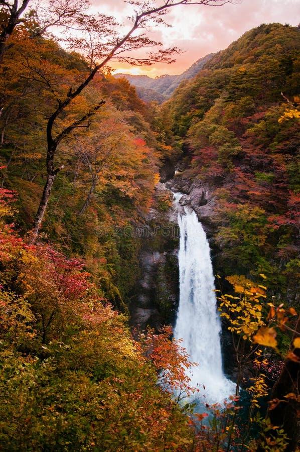 Cascada de Akiu, Akiu Otaki foto de archivo