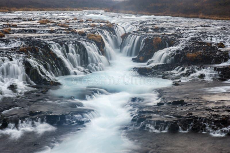 Cascada de Bruarfoss, Islandia imagen de archivo libre de regalías
