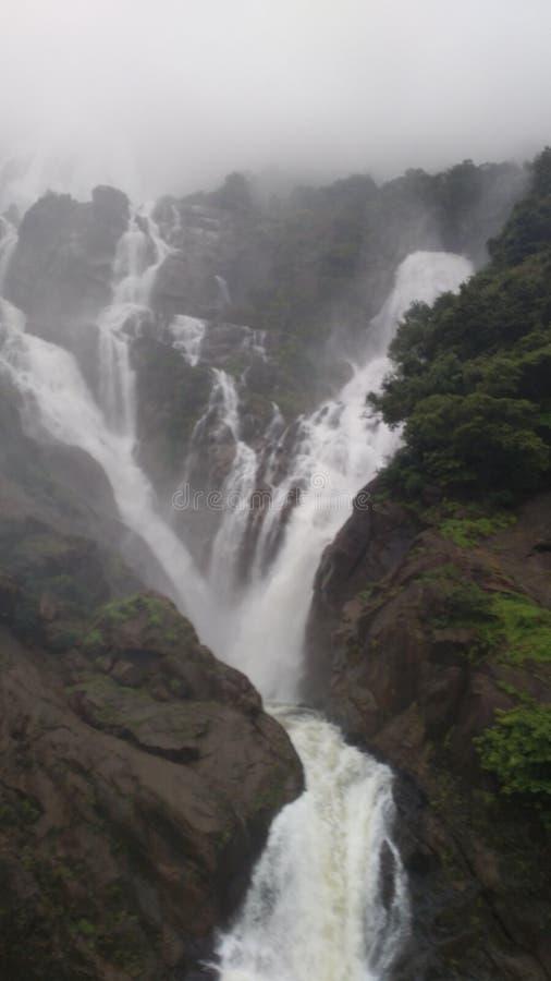 Cascada de Doodhsagar fotografía de archivo
