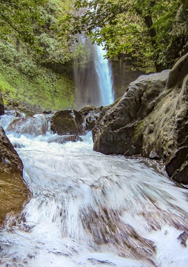 Cascada de Fortuna del La cerca del parque nacional de Arenal en Costa Rica fotos de archivo