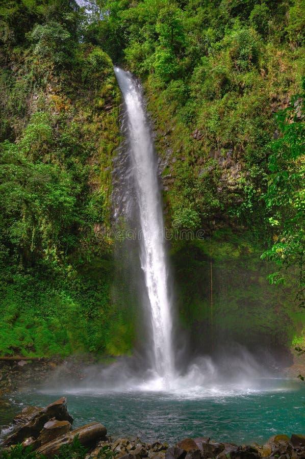 Cascada de Fortuna del La, Costa Rica fotografía de archivo libre de regalías