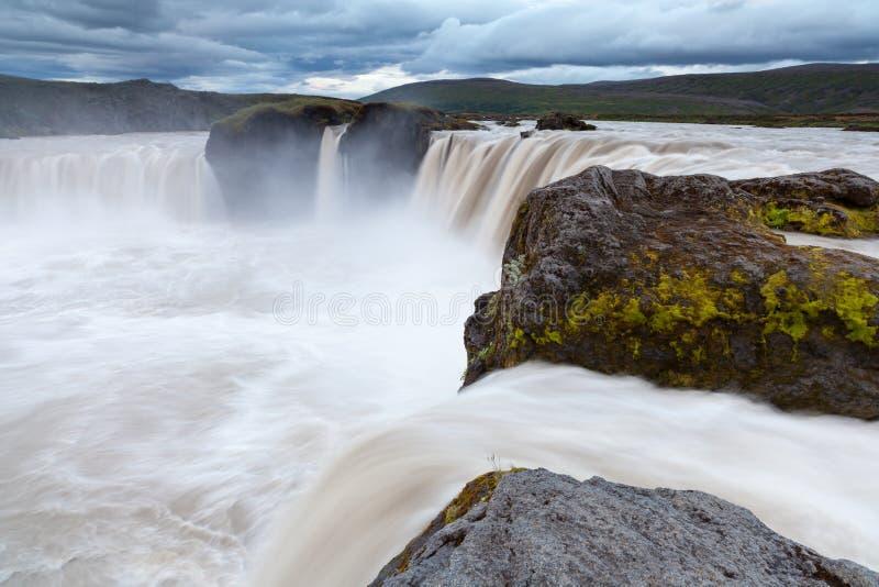 Cascada de Godafoss, Islandia del norte fotografía de archivo