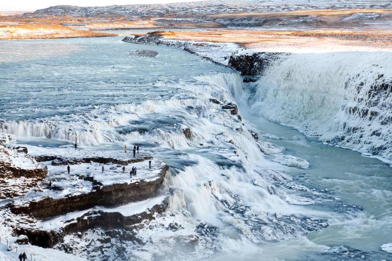 Cascada de Gullfoss foto de archivo libre de regalías