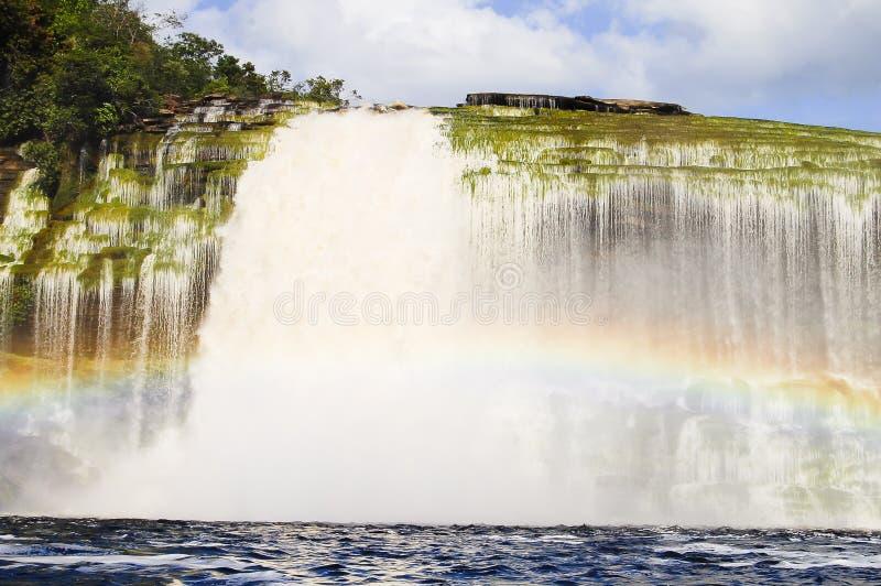 Cascada de Hacha - Venezuela foto de archivo