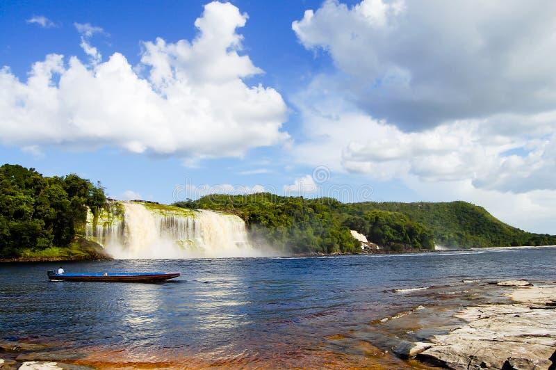 Cascada de Hacha - Venezuela imagenes de archivo