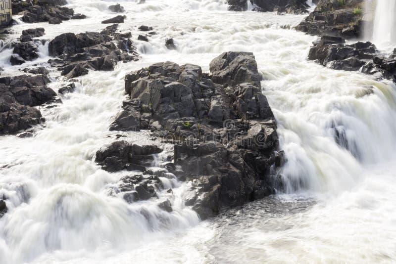 Cascada de Honefoss en Noruega fotos de archivo libres de regalías