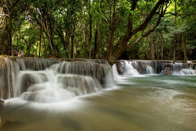 Cascada de Huai Mae Khamin fotos de archivo