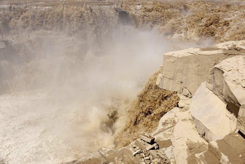 Cascada de Hukou fotografía de archivo