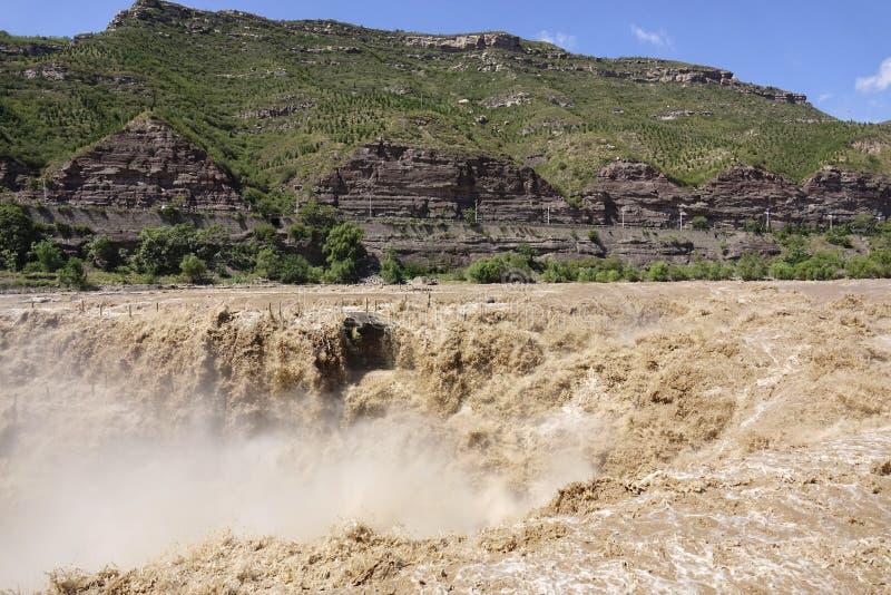 Cascada de Hukou del río Amarillo imágenes de archivo libres de regalías