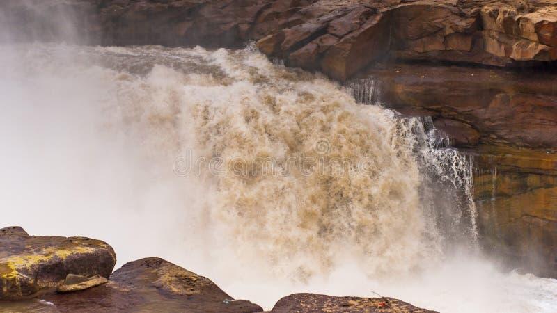 Cascada de Hukou imagenes de archivo