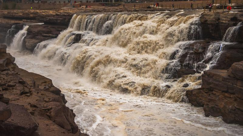 Cascada de Hukou imagen de archivo libre de regalías