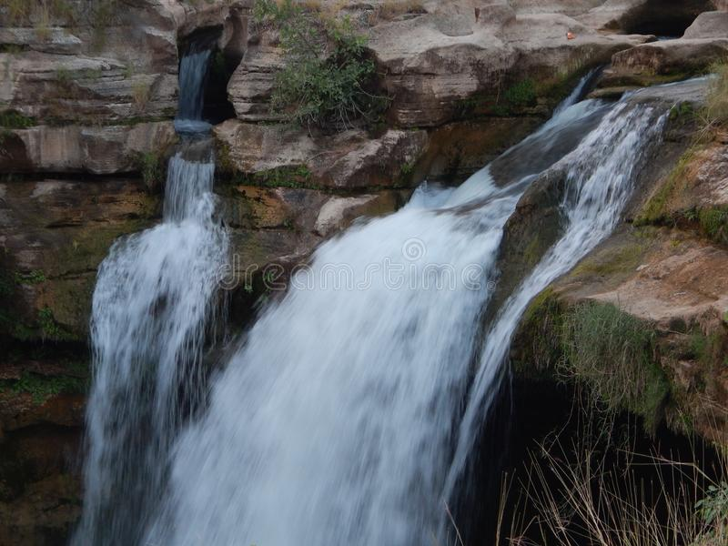 Cascada de Jamjir en JAMWALA GIR imagen de archivo libre de regalías